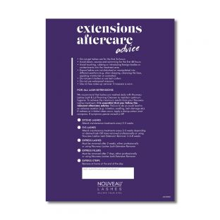 Dangerously Beautiful Aftercare Cards - Lash Extensions