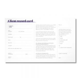 Dangerously Beautiful Client Record Card