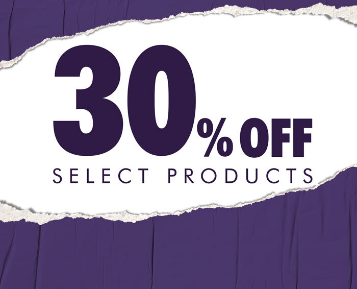 30% off select products banner