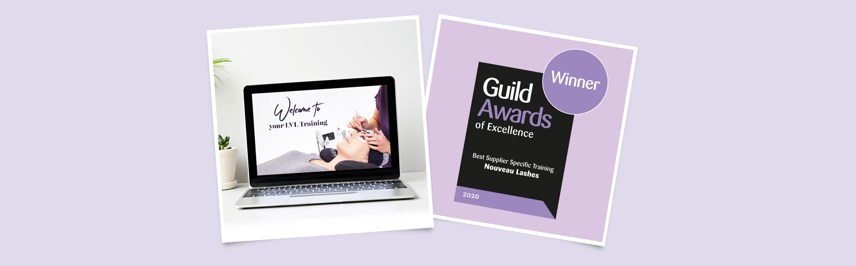 LVL lash lift training course; Guild Award