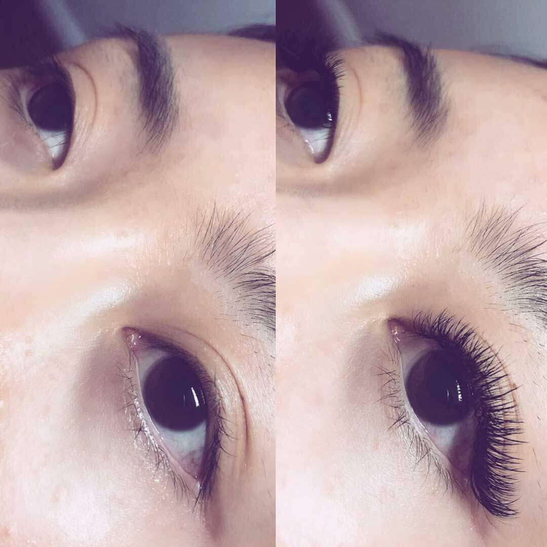 Hybrid lash extensions before and after